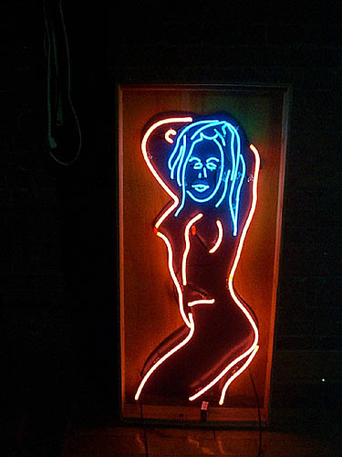 Blue neon adult entertainment ebony